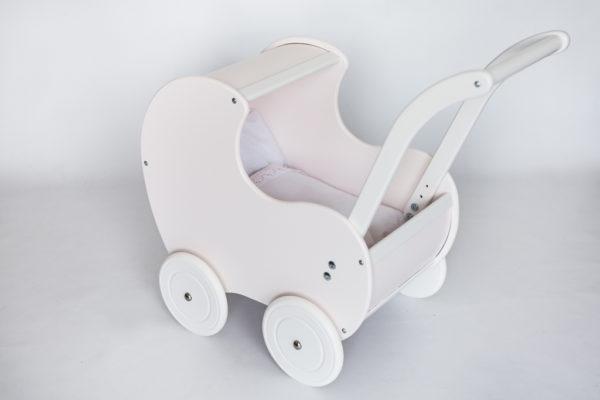 Pościel - śpiworek do wózka dla lalek - biała z koronką