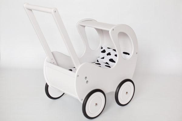 Pościel - śpiworek do wózka dla lalek - chmurki